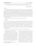 Từ tố cổ Hām và Tūn trong địa danh tiếng Anh