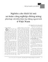 Nghiên cứu thiết kế mũ an toàn công nghiệp chống nóng phù hợp với điều kiện lao động ngoài trời ở Việt Nam