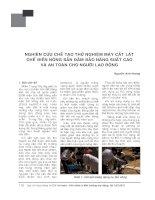 Nghiên cứu chế tạo thử nghiệm máy cắt lát chế biến nông sản đảm bảo năng suất cao và an toàn cho người lao động