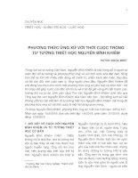 Phương thức ứng xử với thời cuộc trong tư tưởng triết học Nguyễn Bỉnh Khiêm