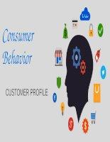 Bài thuyết trình Hành vi người tiêu dùng - Trương Thị Kim Hiếu