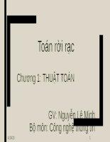 Bài giảng Toán rời rạc: Chương 1 - Nguyễn Lê Minh (2020)