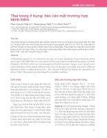 Thai trong ổ bụng: Báo cáo một trường hợp bệnh hiếm
