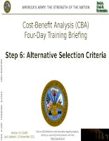 Cost beniefit analysis training for decision makers and manager step6