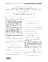 Giới hạn Banach và ứng dụng trong lý thuyết phương trình sai phân