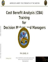 Cost beniefit analysis training for decision makers and manager step0