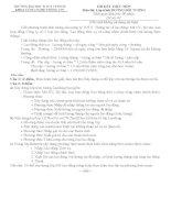 Đề thi kết thúc môn Lập trình hướng đối tượng (Đề số 01)