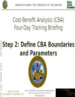 Cost beniefit analysis training for decision makers and manager step2