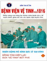 Bản tin đề án Bệnh viện Vệ tinh và 1816: Số 80/2015