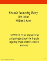 Financial accounting theory 5e scot ch01