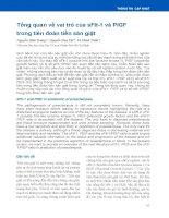Tổng quan về vai trò của sFlt-1 và PlGF trong tiên đoán tiền sản giật
