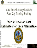 Cost beniefit analysis training for decision makers and manager step4