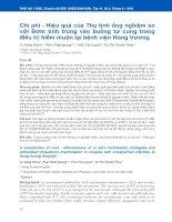 Chi phí - Hiệu quả của Thụ tinh ống nghiệm so với Bơm tinh trùng vào buồng tử cung trong điều trị hiếm muộn tại bệnh viện Hùng Vương