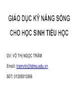 Bài giảng Giáo dục kỹ năng sống cho học sinh tiểu học - Võ Thị Ngọc Trâm