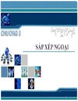 Bài giảng Phân tích thiết kế và giải thuật - Chương 3: Sắp xếp ngoại
