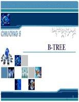 Bài giảng Phân tích thiết kế và giải thuật - Chương 5: B-Tree