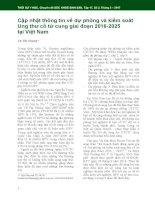 Cập nhật thông tin về dự phòng và kiểm soát ung thư cổ tử cung giai đoạn 2016-2025 tại Việt Nam