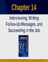 Lecture Business and administrative communication: Chapter 14 - Kitty O. Locker, Donna S. Kienzler