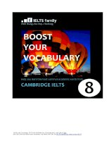 Cambridge IELTS 8 and Boot your vocabulary