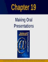 Lecture Business and administrative communication: Chapter 19 - Kitty O. Locker, Donna S. Kienzler