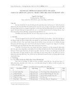 Đánh giá thời gian khai thác du lịch cho các điểm du lịch tự nhiên trên địa bàn tỉnh Phú Yên