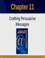 Lecture Business and administrative communication: Chapter 11 - Kitty O. Locker, Donna S. Kienzler