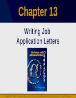 Lecture Business and administrative communication: Chapter 13 - Kitty O. Locker, Donna S. Kienzler