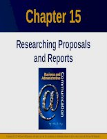 Lecture Business and administrative communication: Chapter 15 - Kitty O. Locker, Donna S. Kienzler
