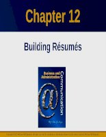 Lecture Business and administrative communication: Chapter 12 - Kitty O. Locker, Donna S. Kienzler