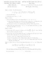 Tổng hợp 42 đề tuyển sinh lớp 10 môn toán năm 2018   2019 có đáp án