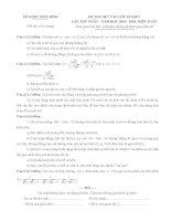 Tổng hợp 10 đề tuyển sinh lớp 10 môn toán năm 2020 – 2021 tập 9