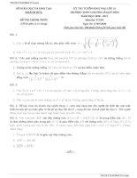 Tổng hợp 10 đề tuyển sinh lớp 10 môn toán năm 2020 – 2021 tập 5