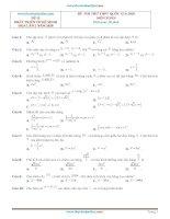 Bộ đề THPT QG môn toán 2020 phát triển từ đề minh hoạ tập 3