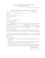 Cam kết về tài sản riêng trước hôn nhân