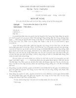 Đơn đề nghị tòa án yêu cầu bị đơn xuất trình tài liệu, chứng cứ