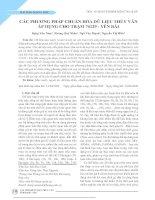Các phương pháp chuẩn hóa dữ liệu thủy văn áp dụng cho trạm 74129 - Yên Bái