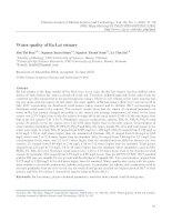 Chất lượng môi trường nước vùng cửa Ba Lạt (sông Hồng)