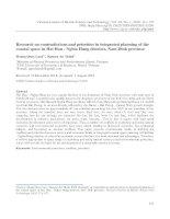 Nghiên cứu mâu thuẫn và lựa chọn ưu tiên trong quy hoạch tổng hợp không gian ven biển huyện Hải Hậu - Nghĩa Hưng, tỉnh Nam Định