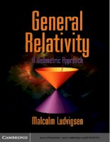 General relativity a geometric approach by malcolm ludvigsen (z lib org)