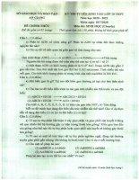 Bộ đề thi tuyển sinh vào lớp 10 chuyên môn sinh 2014 2021