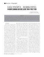 Giải pháp E-marketing nhằm quảng bá du lịch tỉnh Phú Thọ