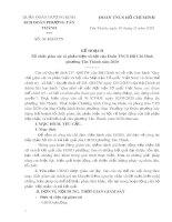 Mẫu Kế hoạch Tổ chức giám sát và phản biện xã hội của Đoàn TNCS Hồ Chí Minh