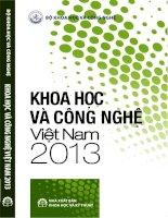 Công nghệ Việt Nam 2013 và các vấn đề liên quan