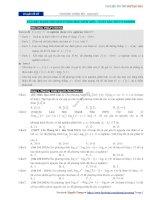 Chuyên đề 19  phương trình mũ   logarit chứa tham số  câu hỏi