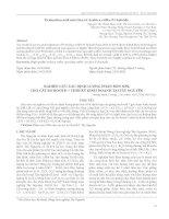 Nghiên cứu xác định lượng phân bón NPK cho cây bơ Booth 7 thời kỳ kinh doanh tại Tây Nguyên