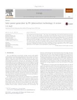 Solar power generation by PV (photovoltaic) technology a review