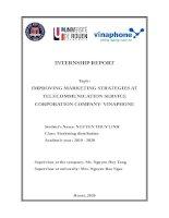 (INTERNSHIP REPORT) improving marketing strategies at telecommunication service corporation company  vinaphone