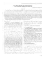 Xác định một số đặc điểm sinh học của nấm men saccharomyces boulardii