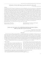 Đánh giá tác dụng của chế phẩm sinh học HOTIEU-HTD03 trên cây hồ tiêu tại Tây Nguyên