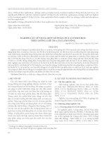 Nghiên cứu sử dụng một số phân hữu cơ sinh học trên giống chè TB14 tại Lâm Đồng